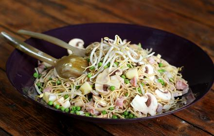 Noodle salad with bean sprouts thumbnail image