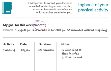 Physical activity logbook thumbnail image